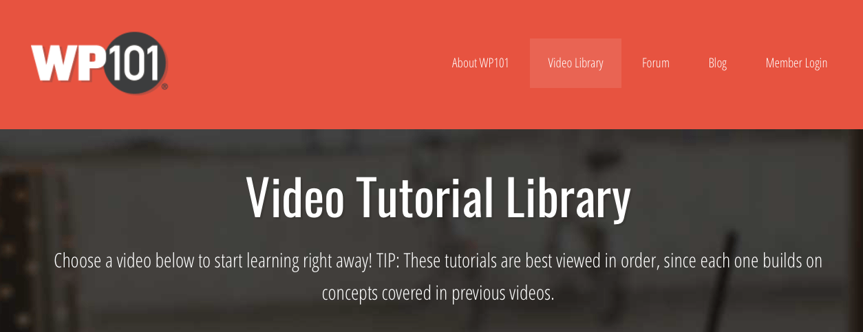 WP101.com Video-Tutorials