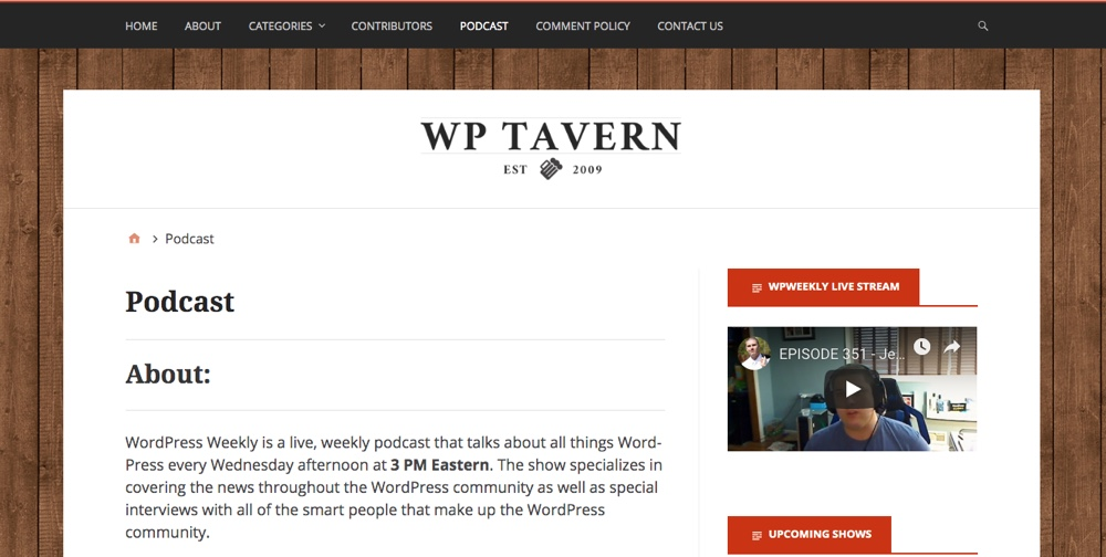 WPTavern WordPress每周