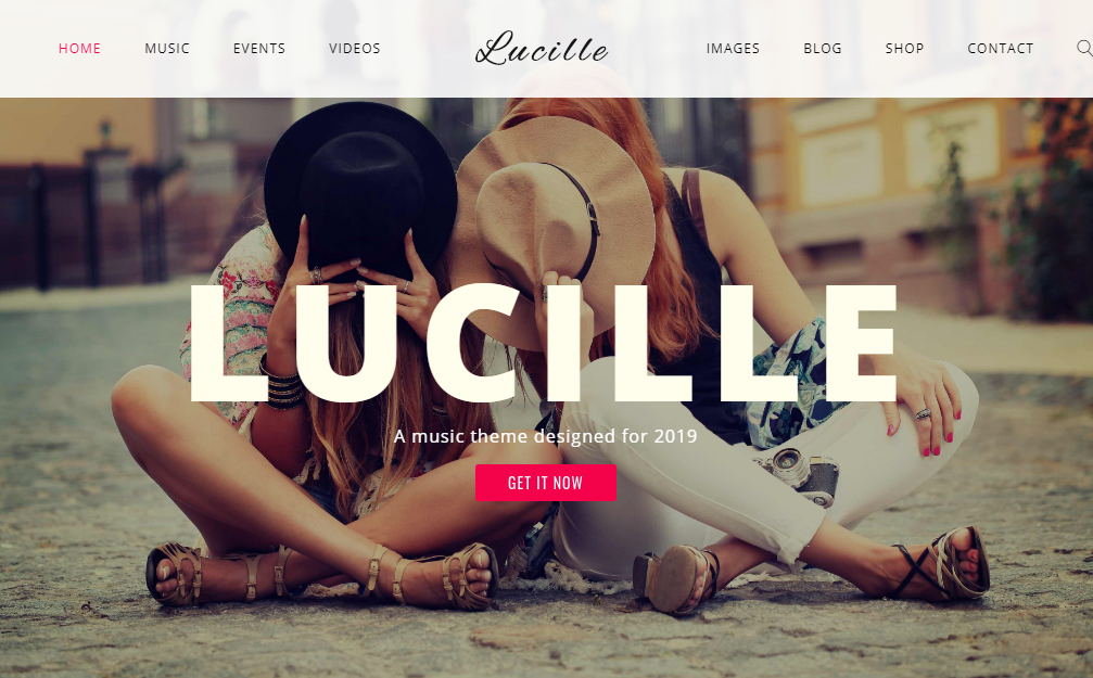 Lucille WordPress музика тема