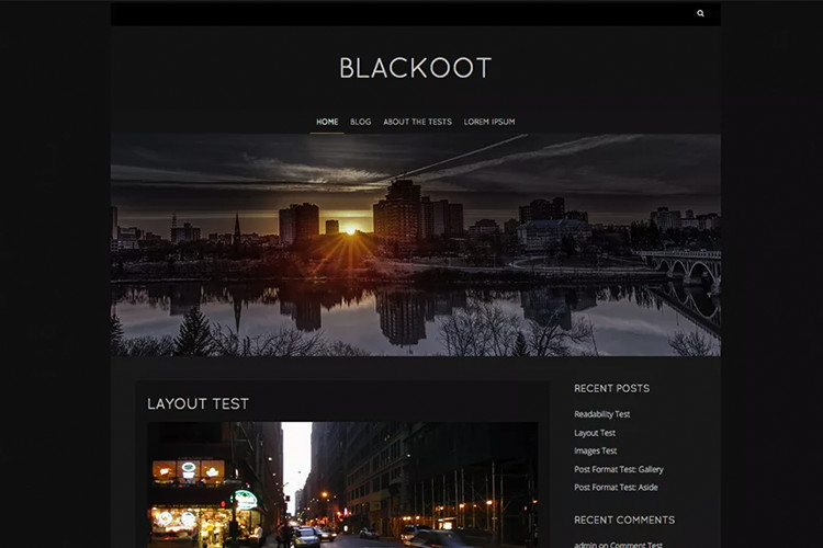 Тема на Blackoot Lite Freemium WordPress