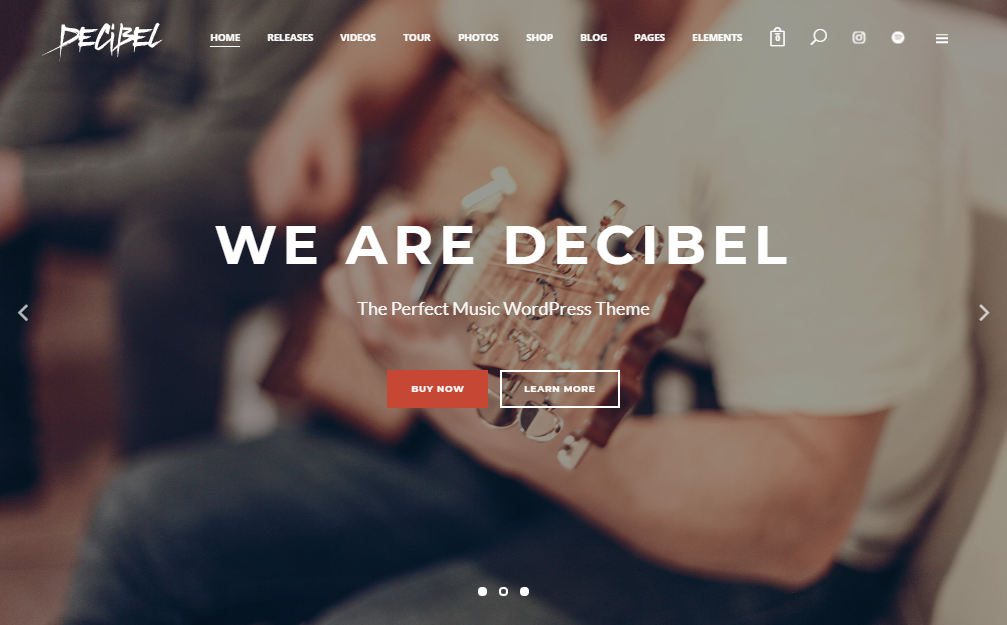 decibel wordpress музика тема