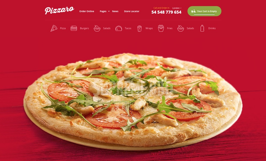 Pizzaro - Fast Food & Restaurant WooCommerce-Thema