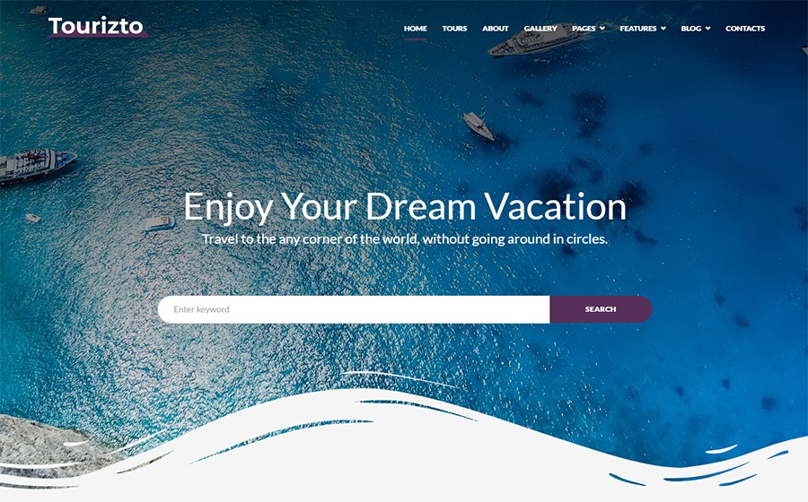 Tourizto Travel Company Elementor WordPress-Theme