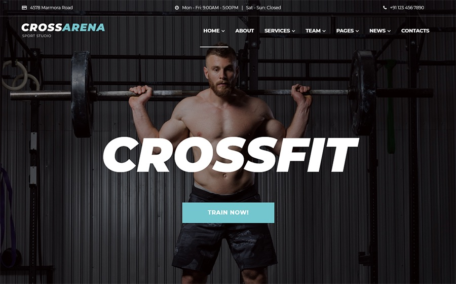 Cross Arena Crossfit Studio Elementor WordPress-Theme