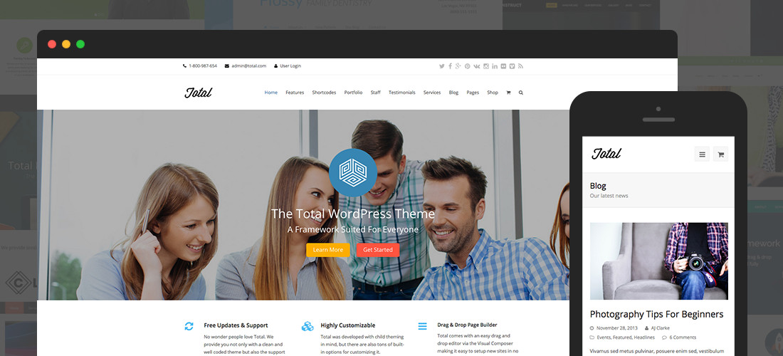 Gesamtes WordPress-Theme