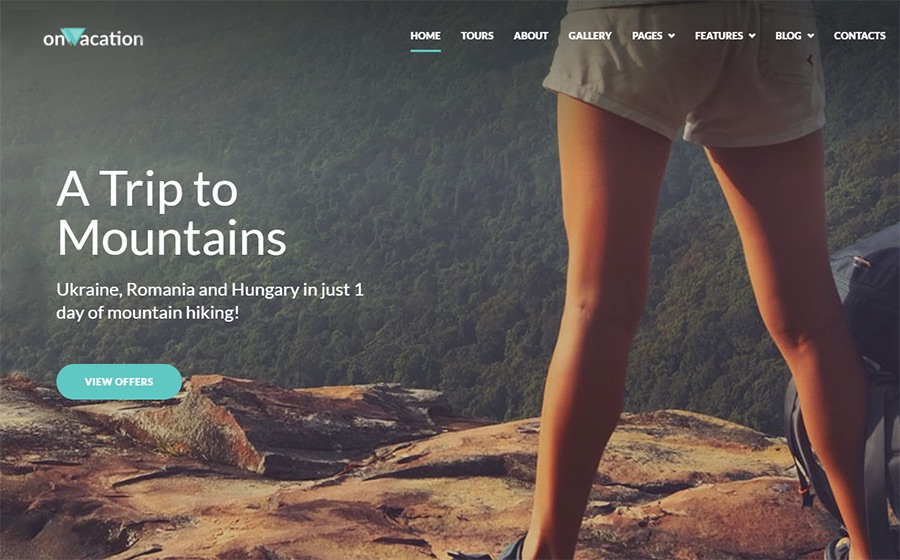 OnVacation Travel Company Elementor WordPress-Theme