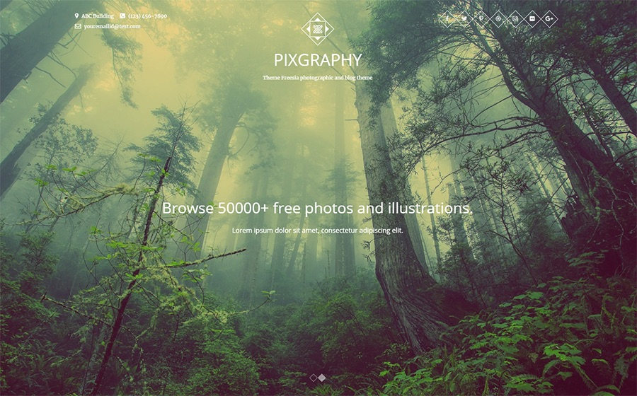 Pixgraphy Photography Kostenloses WordPress-Theme