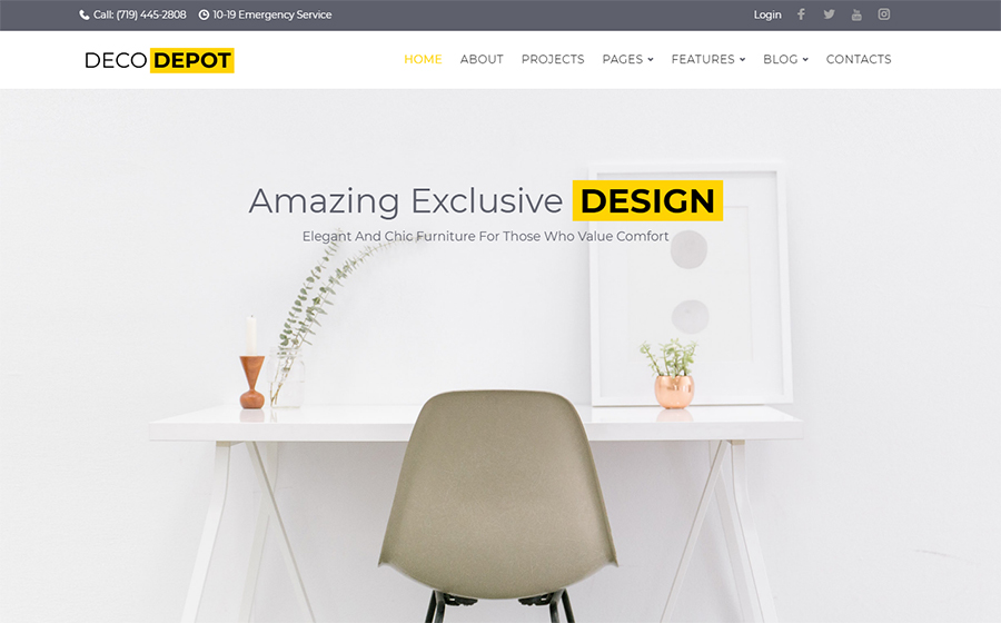 DecoDepot Furniture Company WordPress-Theme