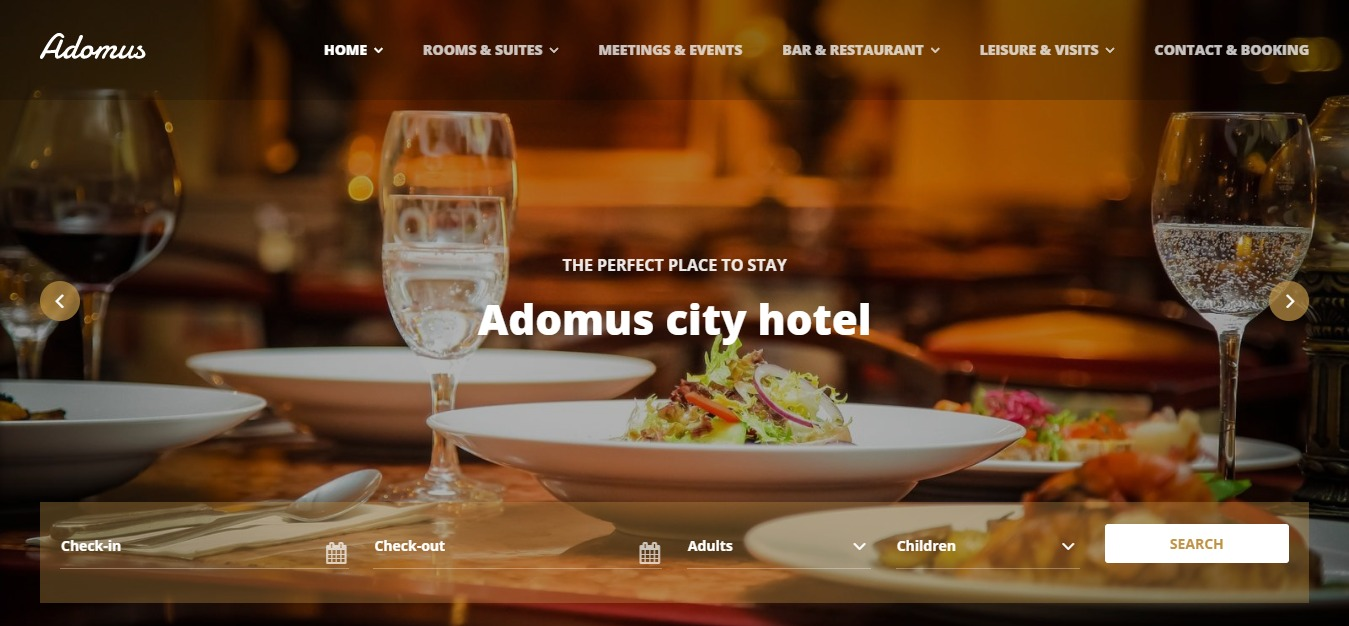 тема adomus hotel wordpress