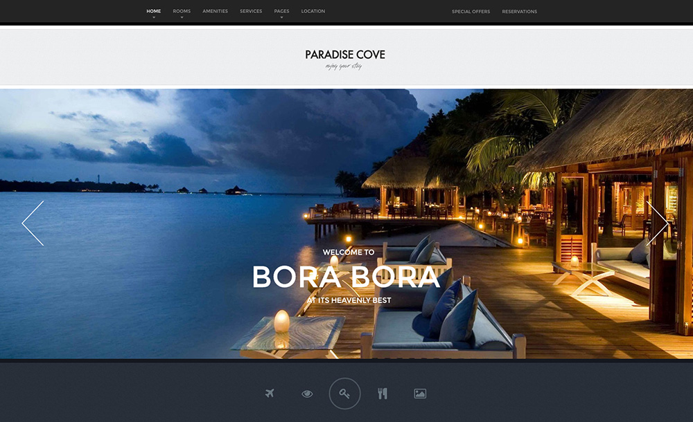 Paradise Cove Hotel WordPress Тема