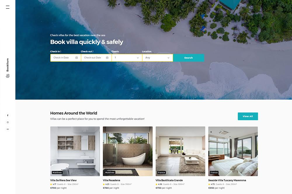 Тема на Booklium WordPress Hotel