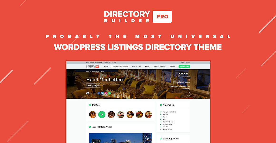 Directory Builder Pro WordPress主题