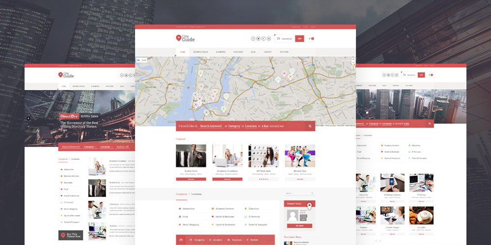 City Guide Listing Directory WordPress Téma