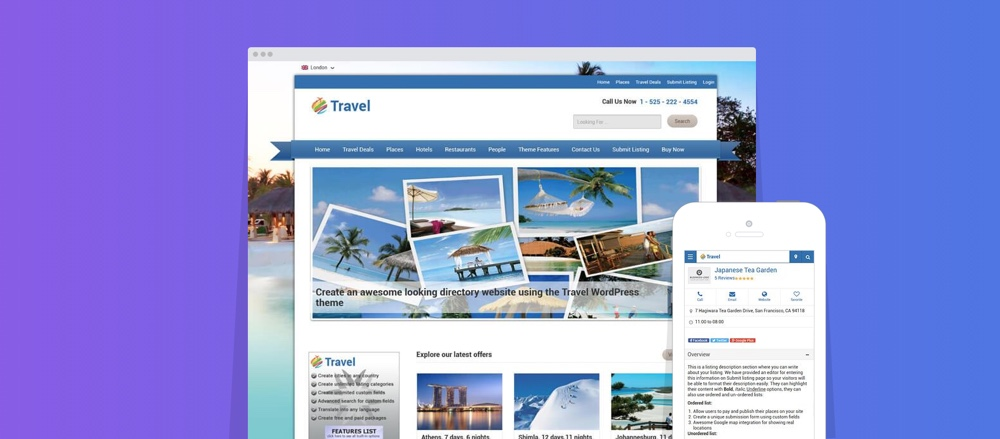 Travel Deals Directory儿童WordPress主题