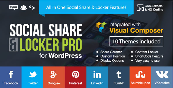 Social Share & Locker Pro Plugin de WordPress