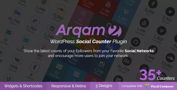 Plugin Social Counter per a WordPress - Arqam