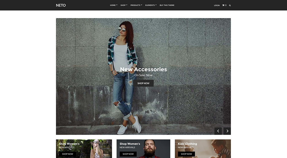 Neto eCommerce WordPress Tema