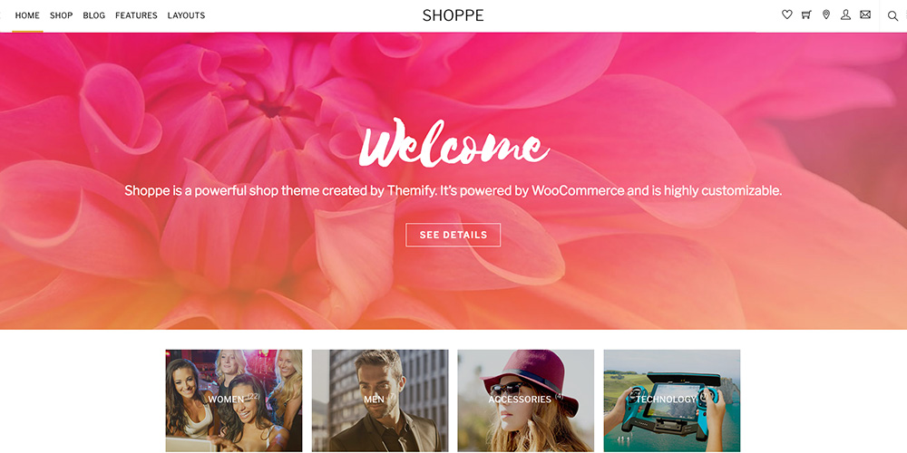 Shoppe WooCommerce Tema WordPress