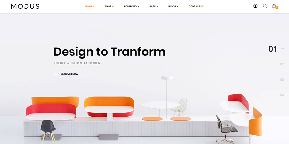 Tema Modus WooCommerce Modern Furniture