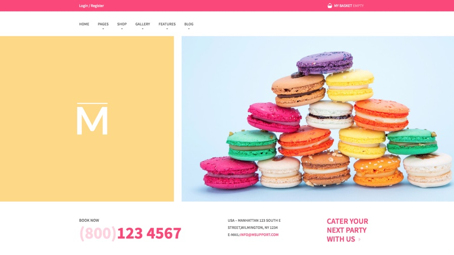 Tema WordPress de Macauon Sweet WooCommerce