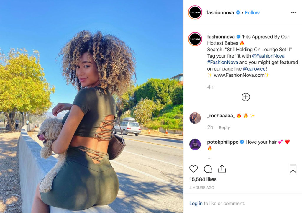 FashionNova på Influencer marketing og UGC på Instagram