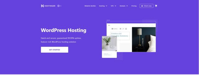 Hostinger WordPress Φιλοξενία