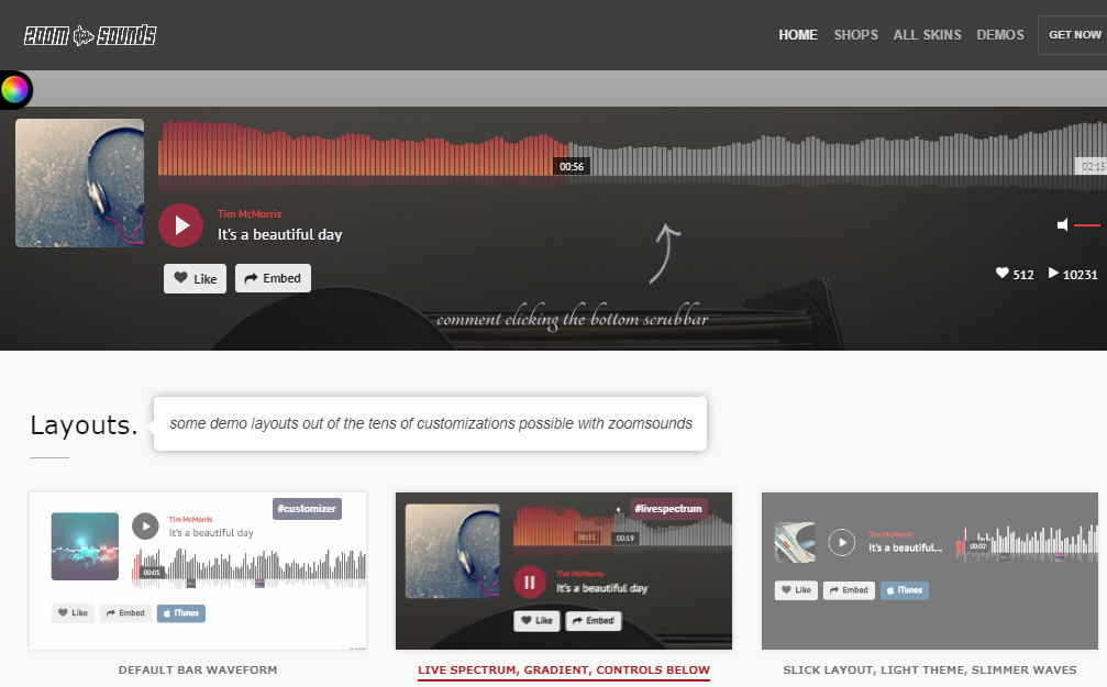 zoomsounds WordPress-Musik-Plugin