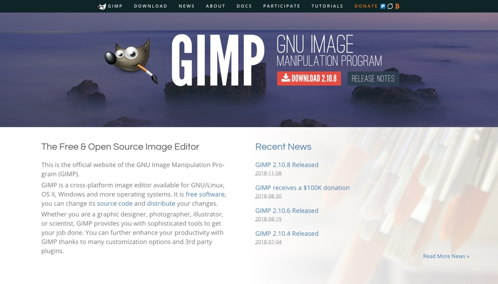 GIMP Free & Open Source Image Editor