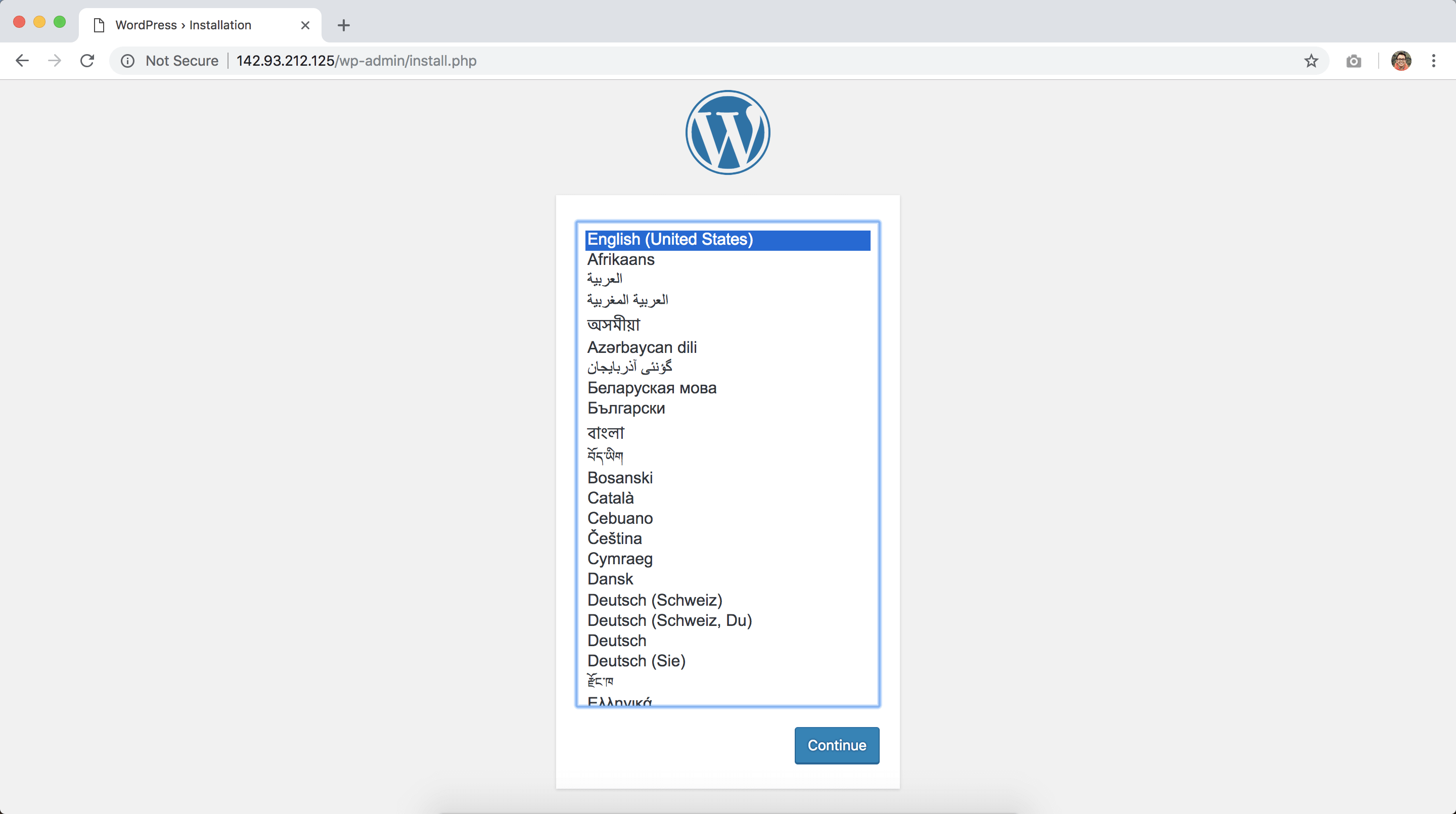 在digitalocean 1/2中安装wordpress