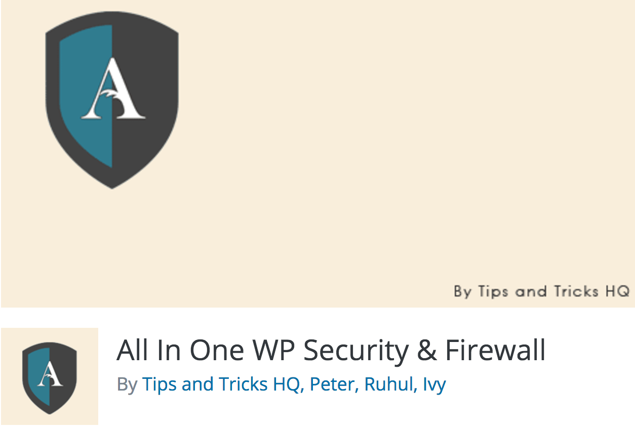 El complement All in Once WP Security & Firewall.