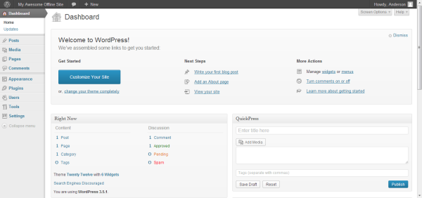 Configura WordPress 5