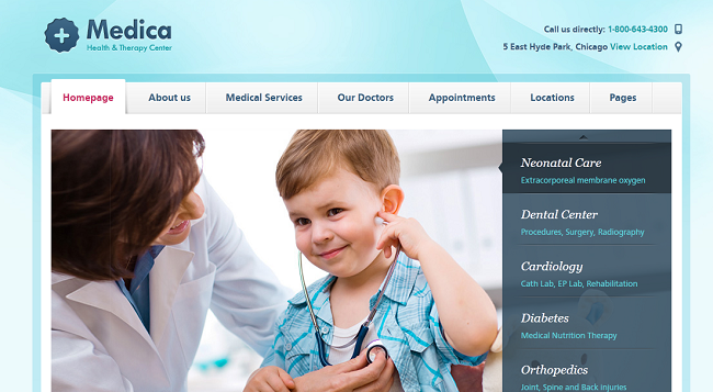 Tema WordPress de Medica