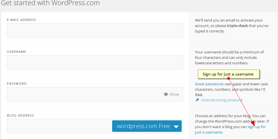 Nom d'usuari de WordPress