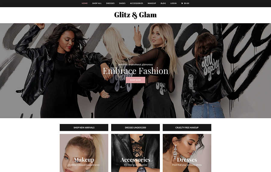Total Glitz & Glam E-Commerce WordPress Demo