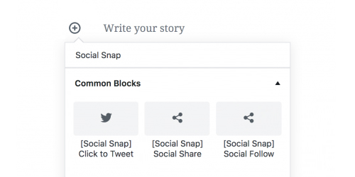 Social Snap Gutenberg Blocks