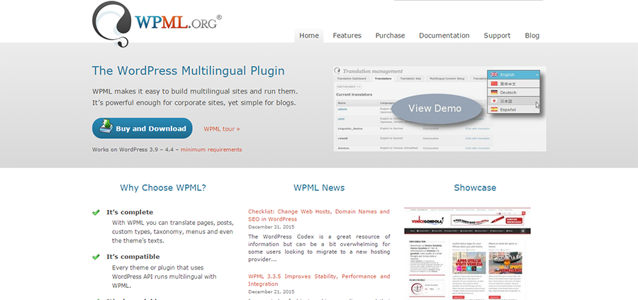 Plugin de traducció de WordPress WPML