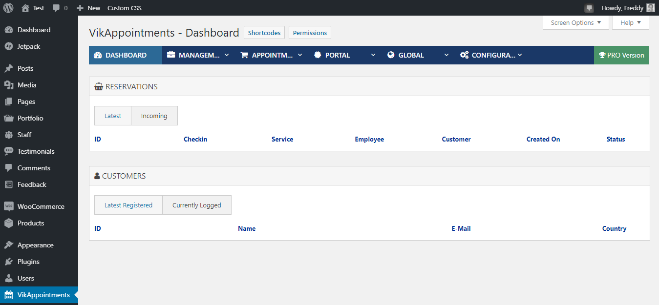 vikappointments admin dashboard