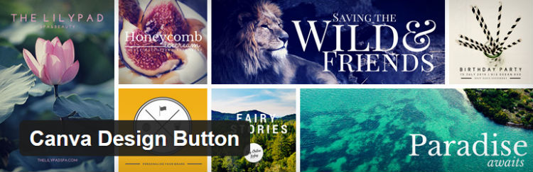 Canva Design Button Plugin gratuït de WordPress